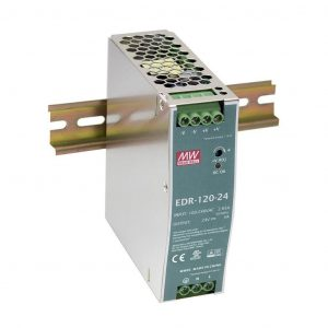 120W 24V 5A Monofaze Ray Tipi Güç Kaynağı