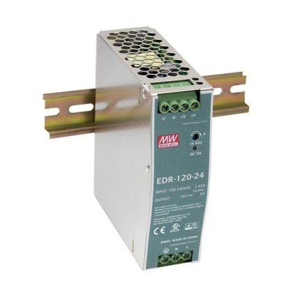 Mean Well 120W 24V 5A Monofaze Ray Tipi Güç Kaynağı